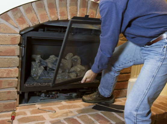 service technician for gas fireplace